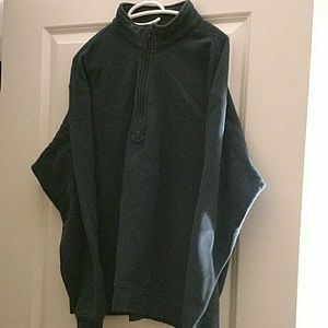 Mens Colombia sweater zipper neck,navy
